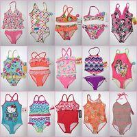 NWT Girls 1 2 Piece Swimsuit Childrens Swimwear Bikini Tankini 4 5 6 6x 8 10 12