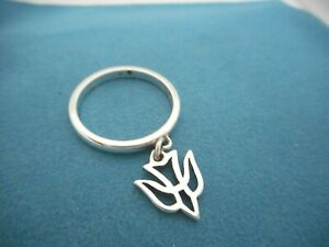 James Avery Sterling Silver Dangle Ring With Retired Descending Dove Charm