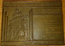 Bronze Plakette signiert H.Lange 1934 Hannover Gesangsverein Gustav Osterhagen..