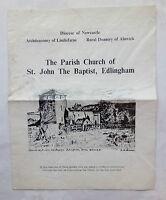 THE PARISH CHURCH OF ST JOHN THE BAPTIST EDLINGHAM NORTHUMBERLAND.1962.A MEAKIN
