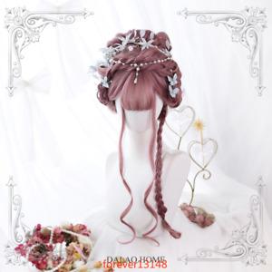 Sakura Pink Harajuku Sweet Princess Wig Dolly Lolita Cosplay Curly Hair Daily