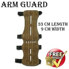 ARCHERY SUEDE LEATHER ARM GUARD WRIST ARM COMPOUND SHOOTING PROTECTION GUARD
