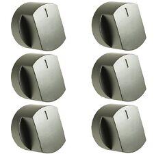 6x PLATA botón giratorio para Horno Interruptor para Stoves 444445109 444445110