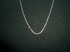 inch delicate fine gold soldered links white gold 14K jewelry necklace 20