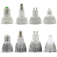 E27 E14 GU10 MR16 LED Spot Light COB Bulb 15W 12W 9W 6W DC12V AC220-240V White