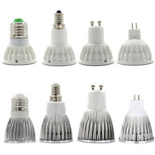 E27 E14 GU10 MR16 LED Spot Luz COB Bombilla 15W 12W 9W 6W DC12V AC220-240V Blanco