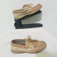 Sperry Topsider Bluefish Leather Boat Shoes Womens Gold Tan Suede SIZE: 7.5M