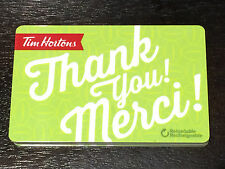 2016 Tim Hortons (FD51885) GREEN Thank You / Merci Collectible gift card **NEW**