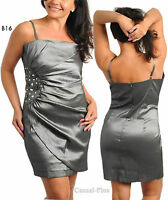 B16 New Womens Wedding Formal Evening Cocktail Party Race Dress Size 14 16 18 20