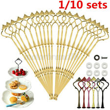 10 Set 3 Tier Cake Stand Fittings Cupcake Rack Plate Handle Rod Wedding Party