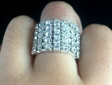 Beautiful Crystal Rhinestone Stretchy 5 Row Finger ring