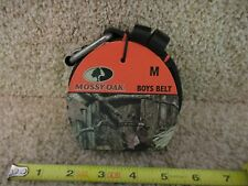 Mossy Oak Boys Kids Medium Belt Black with silver buckle New
