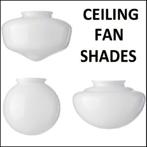 Ceiling Fan Shades (Argos, B&Q, Homebase, Bliss, Reamington, Twister, Houston)