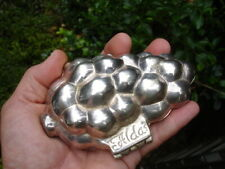 ALDA'S silverplate hinged heavy cast metal GRAPE soap food MOLD jewelry box case