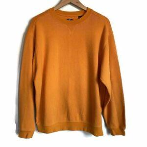 Callaway Golf Sport Mens Sweatshirt Orange Crew Neck Long Sleeve Pullover L