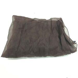 Valentino Scarf OS 100% Silk Dark Brown Sheer Style Smart Formal Occasion 121033