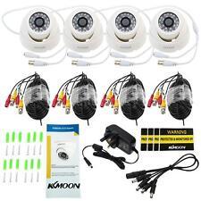 4pcs KKMOON HD 800TVL CCTV Home Security Dome Camera IR Cut Night System Kit UK