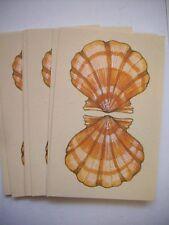 Sea Shell 1970's bridge tally cards Hallmark 10 cards