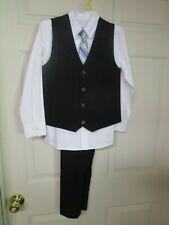 NWT Boy's 4 PC Wonder Nation Suit. Size 8. Pants, Shirt, Vest & Tie.  NICE!!