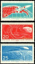 EBS East Germany DDR 1961 1st Manned Space Flight Gagarin Michel 822-824 MNH**