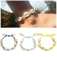 Bohemia Handmade Sea Shell Cowrie Bracelet Summer Bangle Chain Jewelry Gift