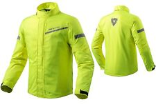 GIACCA MOTO ANTIPIOGGIA REV'IT CYCLONE 2 H2O GIALLO FLUO NEON WATERPROOF TG M