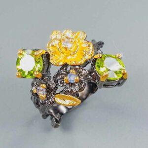 Fine Art Jewellery Peridot Ring Silver 925 Sterling  Size 6.25 /R155223