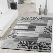 Teppich Patchwork kasten Muster Azteken Design Modern Teppiche Rot Grau