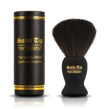 Satin Tip - The Purest - Black Luxury Synthetic Shaving Brush with Case - Soft!