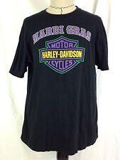 Harley Davidson Shirt Mens XL Size Mardi Gras Black Houma Louisiana Motorcycle