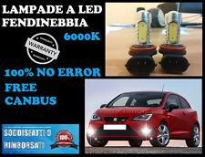 SEAT IBIZA 6J 2013+ LAMPADE FENDINEBBIA H8 LED CREE + RESISTENZA 6000K
