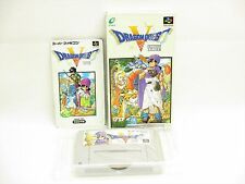 DRAGON QUEST V 5 Item Ref/ccc Super Famicom Nintendo Enix Japan Boxed Game sf