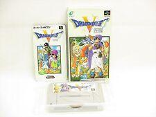 DRAGON QUEST V 5 Item Ref/ccc Super Famicom Nintendo Enix Japan Boxed Game sf