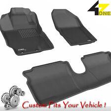 3D Fits 2012-2014 Toyota Yaris G3AC22587 Black Waterproof Front and Rear Car Par