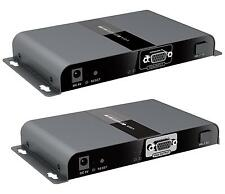 Up to 20Km,HDbitT VGA Extender over Optical Fiber Cable with Audio Adaptor 1080P