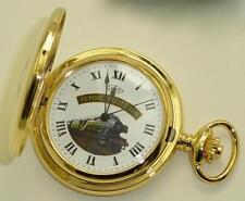 Gold Plated Mechanical Special Edition Flying Scotsman Half Hunter Pocket Watch