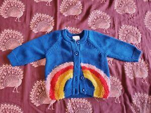Hanna andersson cardigan Sweater Rainbow 3-6 Months GUC
