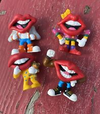 Lot of 4 Tang Hardees Mouths Lips Not Happy Meal Toys Vintage General Foods