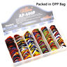 Lots of 100pcs Alice AP-P Smooth ABS Guitar Picks Multi Thickness Mixed Colors