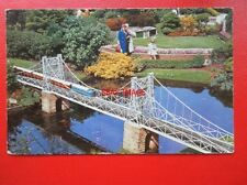 POSTCARD SUSPENSION BRIDEL BABBICOMBE MODEL VILLAGE DEVON