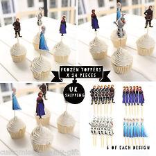 24 Principessa Elsa Anna Decorazioni per Cupcake Cup cake topper festa Disney Frozen Regno Unito