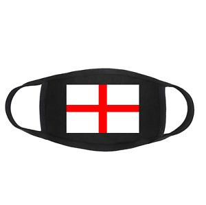 ENGLAND Football Flag St. George's Cross Protective Face Mask Reusable Washable