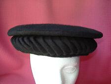 Black Wool Arabic Flat Hat Men's Beret