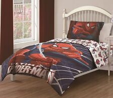 3pc Ultimate Spiderman Twin Sized Comforter Bed in a Bag Bedding Set