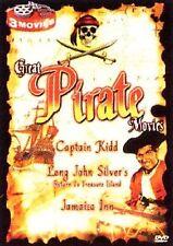 Great Pirate Movies DVD 2006 New 3 Movies Captain Kidd Return To Treasure Island