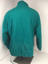 VINTAGE 1980'S NO-FEAR Gear Skate Snow Ski Parka XL Embroidered Lined Green RARE