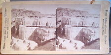 Yellowstone Park Stereoview MINERVA TERRACE Mammoth Hot Spgs New Edu Canvassers