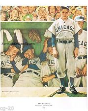 "Norman Rockwell baseball print ""THE DUGOUT"" 11x15""/8""x10"" Cubs  win world series"