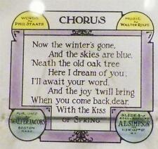 Vintage Glass Slide Chorus Song Lyrics Color Scarce Late 1800s-1900s AS IS