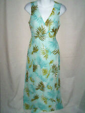 WOMENS KATE HILL AQUA BLUE FLORAL LONG SILK MAXI DRESS SIZE 6P 6